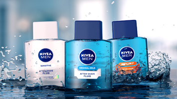 NIVEA Fluid TV Spot 3D Animation Packshot